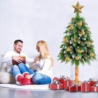 Vánoční stromek - diamantová borovice s jeřabinou 160 cm