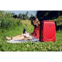 Moderní cestovní kufry WAVE - červené