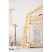 Dětská postel z masivu PATROVÝ DOMEČEK - TYP B 180x90 cm