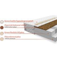 Pěnová matrace COCO 200x90x14 cm - HR pěna/kokos