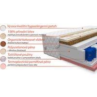 Taštičková matrace ACTIVE 200x160x22 cm - paměťová pěna/kokos/latex
