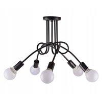 Stropní svítidlo SPINDEL 5 - černé