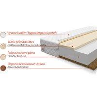 Pěnová matrace PIENI 200x160x13 cm - kokos/latex