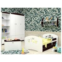 Dětská postel se šuplíkem 200x90 cm s výřezem KOČIČKY + matrace ZDARMA!