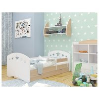 Dětská postel se šuplíkem 180x90 cm s výřezem HVĚZDIČKY + matrace ZDARMA!