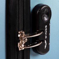 Moderní cestovní kufry BRICK - oranžové