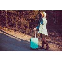 Moderní cestovní kufry CADERE - mátové