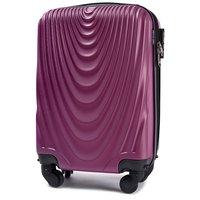 Moderní cestovní kufry CADERE - tmavě fialové