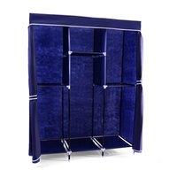 Textilní šatní skříň MAX 135x45x175 cm modrá