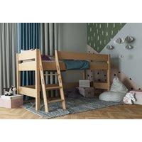 Dětská vyvýšená postel z MASIVU BUK - NIK 200x90cm - přírodní