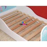 SKLADEM: Dětská postel KVĚTINKY HNĚDÉ 160x80 cm + matrace ZDARMA