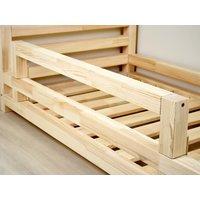 SKLADEM: Dětská designová postel z masivu 160x80 cm DOMEČEK 2 bez šuplíku - BÍLÁ