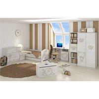 SKLADEM: Dětská postel s výřezem MÉĎA - přírodní 140x70 cm + matrace ZDARMA!