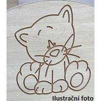 SKLADEM: Dětský noční stolek s výřezem PEJSEK - růžová