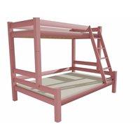 Dětská patrová postel s rozšířeným spodním lůžkem z MASIVU 200x90 cm bez šuplíku PAVLÍNA