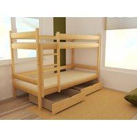 Dětská patrová postel z MASIVU 180x80cm bez šuplíku - PP002