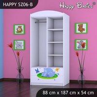 Dětská skříň - TYP 6B - bílá