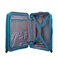 Moderní cestovní kufry BAHAMAS - modrozelené
