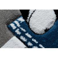 Dětský kusový koberec PetMe Francouzský buldoček - šedý