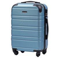 Moderní cestovní kufr GOLEM - metalické modrý - vel. S