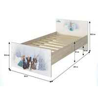 SKLADEM: Dětská postel MAX bez šuplíku Disney - FROZEN 200x90 cm