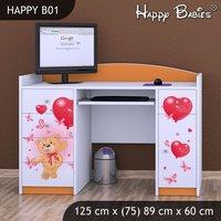 Dětský psací stůl - TYP 1 - oranžový