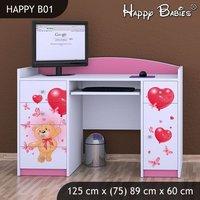 Dětský psací stůl - TYP 1 - růžový
