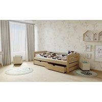 SKLADEM: Dětská postel z MASIVU 180x80cm SE ŠUPLÍKY - M02 - moření olše