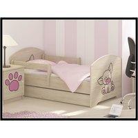 SKLADEM: Dětská postel s výřezem PEJSEK - růžová 160x80 cm + matrace ZDARMA!