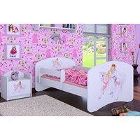 SKLADEM: Dětská postel bez šuplíku 160x80cm PRINC NA BÍLÉM KONI - bílá