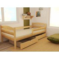 SKLADEM: Dětská postel z MASIVU 180x80cm bez šuplíku - DP017 - bezbarvý ekologický lak