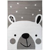 Dětský koberec PASTEL lední méďa - šedý - 140x200 cm