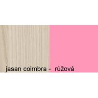 SKLADEM: Komoda APPLE - TYP D - růžová+jasan coimbra