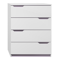 SKLADEM: Komoda - MODERN TYP B fialová/bílá