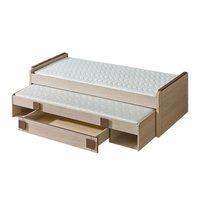 SKLADEM: Dětská postel GAME G16 200x80 cm s přistýlkou a šuplíkem - hnědá + dub santana