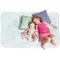 Dětský plyšový koberec MAX SVĚTLE MODRÝ