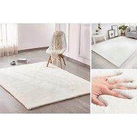 Kusový koberec RABBIT - ecru bílá - imitace králičí kožešiny