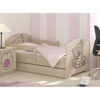 SKLADEM: Dětská postel s výřezem KOČIČKA - růžová 160x80 cm