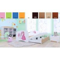 Dětská postel pro DVA (s výsuvným lůžkem) 180x90 cm - PRINCEZNA A KONÍK