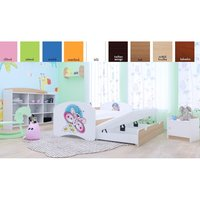 Dětská postel pro DVA (s výsuvným lůžkem) 180x90 cm - MOTÝLEK