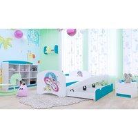 Dětská postel pro DVA (s výsuvným lůžkem) 160x80 cm - MOTÝLEK