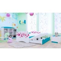 Dětská postel pro DVA (s výsuvným lůžkem) 200x90 cm - FALL IN LOVE