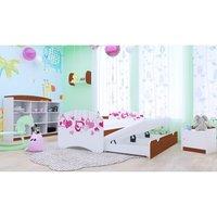 Dětská postel pro DVA (s výsuvným lůžkem) 180x90 cm - FALL IN LOVE