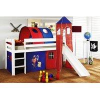 Dětská vyvýšená postel s tunelem