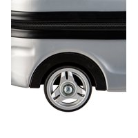Dětský cestovní kufr AUTO policie - stříbrný