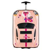Dětský cestovní kufr AUTO princess - růžový