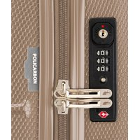 Moderní cestovní kufry PANAMA - champagne béžové - TSA zámek