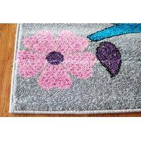 Dětský koberec PTÁČCI - šedý