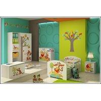 SKLADEM: Dětská postel Disney - MEDVÍDEK PÚ A KAMARÁDI 140x70 cm