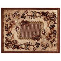Kusový koberec ATLAS flora - béžový/hnědý